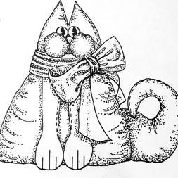 Cat Doll Stuffed Toy Pattern BRIDGET by Material Memories 16