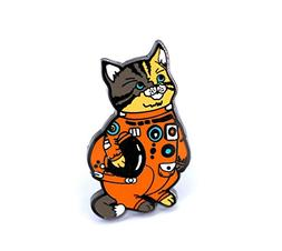 Compoco Pop Cat Enamel Pin Astronaut Kitty in a Space Suit H