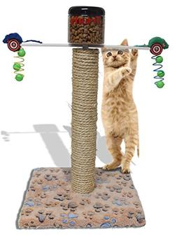 CAT EXERCISE FEEDING TOY / CATS LOVE TO WORK FOR THEIR FOOD