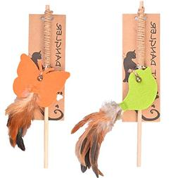 cat feather toy dangle