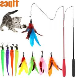 cat feather toy retractable cat toys wand