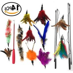 Cat Feather Toy Cat Teaser Wands Interactive Toys For Kitty