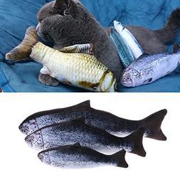 Qupida Cat Fish Toys Catnip - 20/30/40cm Cat Chew Toys 3D Fi