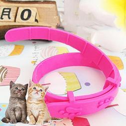 Hisoul Cat Flea Collar Pet Cat Pink Flea Circle Pest Control