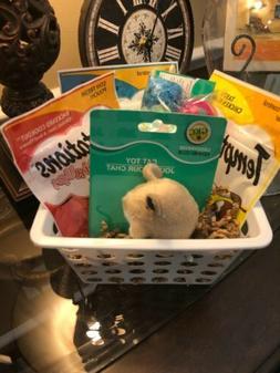 Cat gift basket, cat treats, cat toys, cat birthday gift, ne