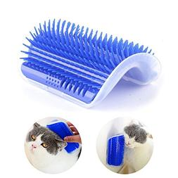 Cat Hair Remover Brush Self Groomer with Catnip Pouch in Wal