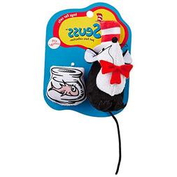 Dr. Seuss Cat in the Hat Mouse Toys for Cats, Standard, Blac