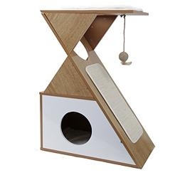PAWZ Road Cat House with Scratching Pad Household Style Mult