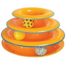 Petstages Cat Interactive Toy Balls Plastic Fun Play One Siz