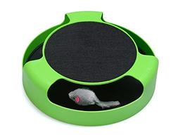 FYNIGO Cat Interactive Toys with a Running Mice and a Scratc