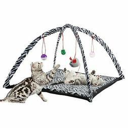 Cat Kitten Activity Play Mat Napping Hanging Balls Toys Inte