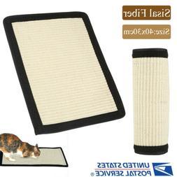 Cat Kitten Pet Sisal Scratching Mat Board Scratcher Toy Furn