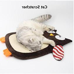 Cat Kitten Scratch Pad ToyPlay Natural Sisal Scratching Post