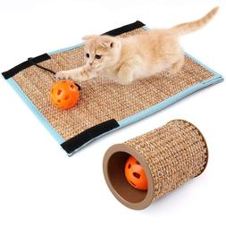 cat kitten sisal scratching post mat board
