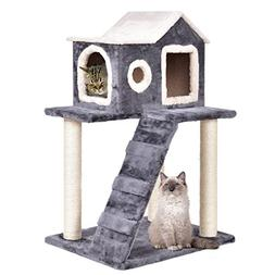 "TANGKULA 36"" Cat Kitty Tree Tower Condo Furniture with Scrat"