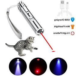 AOKON Cat Laser Pointer USB  3 in 1 Cat Dancer Toys Interact