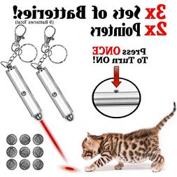 Animmo 2X Cat Light Pointers Batteries Included for Both Plu