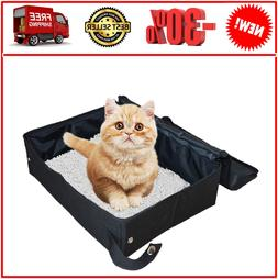cat litter box portable foldable collapsible light