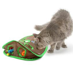 Cat Mice Toy Hide and Seek Game Pop-up Flexible Intelligence