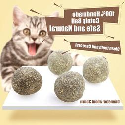 Cat Mint Ball Natural Catnip tooth Cleaning Playing Chew Toy