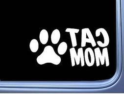 Cat Mom M368 8 inch Sticker Decal breed litter box catnip ki