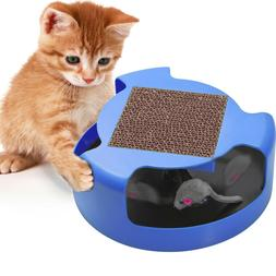 OxGord Cat Mouse Play Toy with Scratching Post
