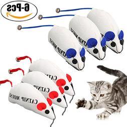 Legendog 6PCS Cat Mouse Toys Interactive Wear Resistant Trai