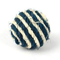 Kim88 Cat Pet Sisal Rope Weave Ball Teaser Play Chewing Ratt