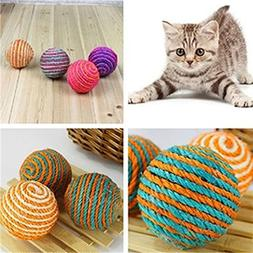 Catnew Cat Pet Sisal Rope Weave Ball Teaser Play Chewing Rat