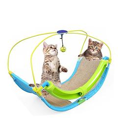 Bartonisen Cat Rocking Roller Hammock Activity Toy Cardle Be