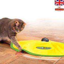 Cat's Meow Motorised Revolving Fun Play Toy Mouse Wand Tail
