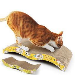 KAIL Cat Scratch Board Durable Wave Design Incline Scratcher