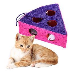 Yunt Cat Scratch Board Toys Watermelon Model 9-Holes Pet Scr