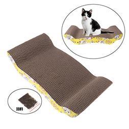 Qupida Cat Scratch Cardboard Cat Corrugated Cardboard Arch D