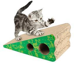 Morezi Premium Cat Scratcher, Wedge Shaped Corrugated Cardbo