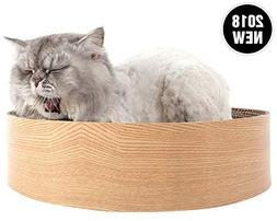 Morezi Cat Scratcher Cardboard, Cat Scratcher Lounge Bed wit