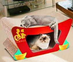Zero Cat Scratcher Cardboard Lounger With Ball Toy Pet Nest