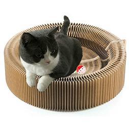 BUDPAW Cat Scratcher Cardboard Scratching Post Pad Scratch L