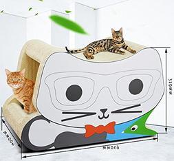 Zero Cat Scratcher Cardboard Toy Glasses Stereo Cat Scratche