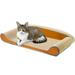 LAMBAW Cat Scratcher Couch 27.55inch Jumbo Eco-friendly Corr