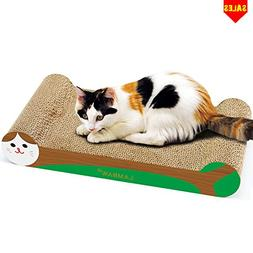 LAMBAW Cat Scratcher Cardboard 16.54 inches Cardboard Cat Sc