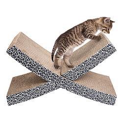 ELENKER Cat Scratcher Lounge Cardboard Come Catnip