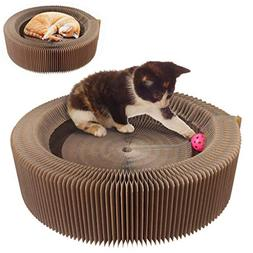 KYC Cat Scratcher Lounge Collapsible Cardboard Scratching Ro