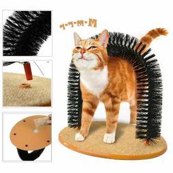 Cat Scratcher Post Pet Arch Groomer Brush Furniture Scratchi