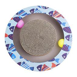 Petper Cat Scratcher Scratching Pads, Round Cat Scratch Boar