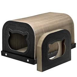 Pawaboo Cat Scratcher Tunnel Cat House - Premium Collapsible