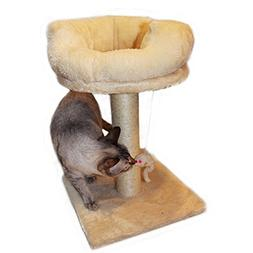 Gsisee Cat Scratching Post with Hanging Toy& Plush Base, Cat
