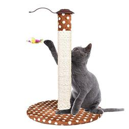 Yunt Cat Scratching Post Cat Activity Tree Cat Toys with Lov