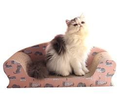 Vivaglory Cat Scratching Sofa Bed, Kitty Cardboard Scratcher
