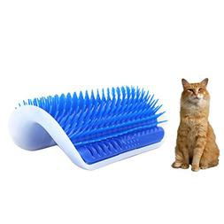 Homedeco Cat Self Groomer With Catnip, Pet Brush Kitten Litt